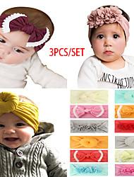 cheap -ins european and american children's donut/bow/chiffon nylon headband baby headband three-piece set wholesale