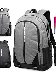 cheap -Men's Oxford Cloth Commuter Backpack Large Capacity Zipper Traveling Outdoor Black Gray