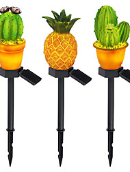 cheap -LED Solar Powered Outdoor Lawn Lamp Waterproof Pineapple Cactus LED Fairy Lamp for Yard Garden Fence Patio Garland IP65 Decoration Lighting