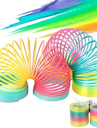 cheap -Rainbow Spring Coil Toys Plastic Folding Spring Coil Sports Game Child Funny Fashion Educational Creative Toys Gift for Children