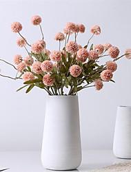 cheap -5 Head Imitation Autumn Dandelion Ball Chrysanthemum Wedding Decoration Bouquet Soft Decoration