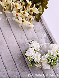 economico -bambini bambina giorno ghirlanda per bambini testa fiore ragazza di fiori accessori per capelli bella sposa abito da sposa ghirlanda da polso vestito da ragazza accessori per prestazioni