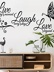 cheap -Animals Cartoon Wall Stickers Bedroom Living Room Removable PVC Home Decoration Wall Decal 1pc 58x27cm