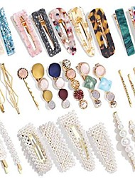 cheap -pearl hairpin set european and american cross-border amazon acrylic acetate hairpin combination hair accessories factory direct sales
