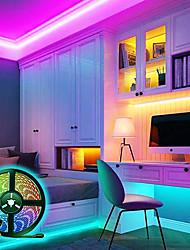 cheap -LED Strip Lights Bluetooth 5M RGB Tiktok Lights Set Flexible 300 LEDs SMD5050 10mm 24Keys Remote Controller 12V 5A Power Supply Set Color-changing IP65 Waterproof APP Control