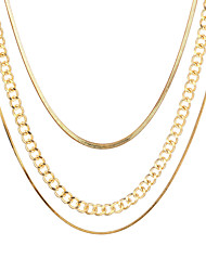 cheap -multi-layer thick chain necklace  three-layer clavicle chain