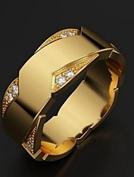 cheap -Band Ring Gold Alloy Trendy 1pc 6 7 8 9 10 / Men's