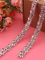 cheap -Satin / Tulle Wedding / Party / Evening Sash With Rhinestone / Crystal / Belt Women's Sashes