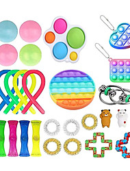 cheap -27Pcs Fidget Toys Anti Stress Set Stretchy Strings toys for Adults Children Gift Pack Squishy Sensory Antistress Relief Figet Toy