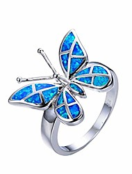 cheap -airlove butterfly comfort fit band ring for women teens girl nature charm friendship promise jewelry