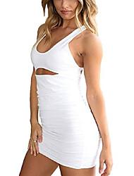 cheap -homelex women sexy clubwear backless party dresses spaghetti strap bodycon mini dress (white, us6-8)