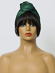 cheap -Headband wig european, american and african Womens popular baotou headscarf hats, printed fashion wigs and wigs