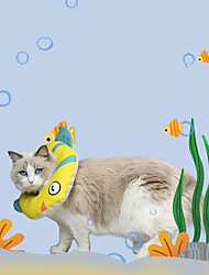 cheap -Dog Cat Pet Cone Pet Recovery Collar Elizabeth circle Adjustable Stress Relieving Safety Anti-Bite Lick Wound Healing After Surgery Protective Walking Fish Animal Cotton Small Dog Yellow