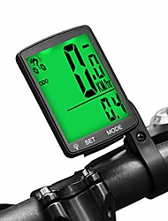 cheap -bike computer wireless waterproof cycling computer multifunctional bicycle speedometer odometer with large backlight lcd display for tracking distance speed time (green)
