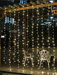 cheap -Solar LED String light Outdoor Fairy Lights Garland for Window Christmas Light Decoration 3x3M for Patio Garden Curtain Rooftop Lamp