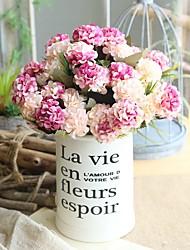 cheap -1Pcs Artificial Flowers Branch 10Pcs Flower Heads Branch 30cm