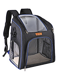 cheap -Dog Cat Pets Carrier Bag Travel Backpack Shoulder Messenger Bag Dog Carrier Backpack Adjustable Portable Breathable Solid Colored Classic Oxford Cloth puppy Small Dog Training Outdoor Hiking Blue