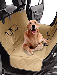 cheap -Dog Cat Pets Dog Cat Car Seat Cover Pet Backseat Cover Waterproof Washable Nonslip Solid Colored Classic Fabric puppy Small Dog Medium Dog Training Outdoor Driving Khaki