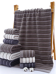 cheap -Three-piece Bathroom Set One 140cm*70cm Cotton Bath Towel Two 35cm*75cm Cotton Face And Hand Towels Three Colors to Choose From