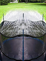 cheap -Trampoline Sprinkler for Kids, Outdoor Trampoline Backyard Water Park Sprinkler, Trampoline Accessories, Fun Summer Outdoor Water Toys for Boys Girls (Black, 39ft)