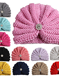 cheap -Kids / Toddler Girls' Cross-Border Exclusively For European And American Woolen Yarn With Diamond Baby Indian Hat New Baby Pullover Hat