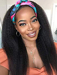 cheap -Unprocessed Virgin Hair 4x13 Closure Wig Middle Part style Brazilian Hair Burmese Hair Silky Straight Black Wig Soft Natural Hairline Coloring With Bleached Knots Bleached Knots Women's 24 inch 14