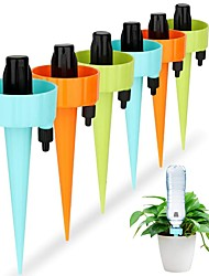 cheap -6pcs Automatic Drip Irrigation Tool Spikes Automatic Flower Plant Garden Watering Kit Adjustable Water Self-Watering Device