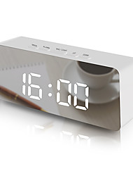 cheap -LED Wall Clock Watch Modern Brief Design 3D DIY Electronic Large Mirror Table Alarm Clocks Office Kids Room Date Time Desk Clock-rectangle
