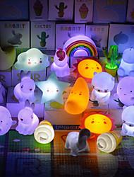 cheap -3D Nightlight Cloud Unicorn Moon Night Light Lovely  Button Battery Powered Tiktok Instagram Lamp