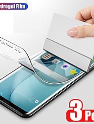 cheap -3PCS Full Coverd Hydrogel Film For iPhone 12 Samsung Galaxy S21 Huawei P40 HD Transparent Self Healing Compatible Fingerprint Sensor Screen Protector For iPhone 11 Galaxy A72 Xiaomi Mi 10T Mate 40pro