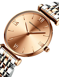 cheap -japan miyoda 2035 movement solid stainless steel band watch, silver rose gold starry ladies watch