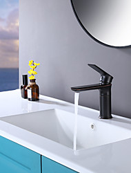 cheap -Bathroom Sink Faucet Heavy Duty Style Single Handle Lever Single Hole  Bath ORB Oil Rubbed Bronze Faucet Deck Mount Hot and Cold Mixer Tap Farmhouse Lead-Free Basin Lavatory Faucet