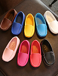cheap -Boys' Girls' Loafers & Slip-Ons Moccasin Faux Leather Little Kids(4-7ys) Big Kids(7years +) White Black Yellow Spring Summer