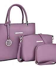 cheap -Women's Bags Bag Set Office & Career Bag Sets Handbags Black Blue Purple Red