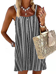 cheap -europe and america 2021 summer cross-border wish amazon ebay sexy backless striped camisole dress women's clothing