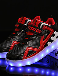 cheap -Boys' Sneakers LED Shoes PU Light Up Shoes Big Kids(7years +) Daily Walking Shoes White Black Summer