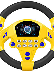cheap -Portable Simulated Driving Steering Wheel Copilot Toy Simulated Driving Controller Children's Educational Sounding Toy Small Steering Wheel Toy Gift (Yellow Black)