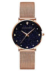cheap -HANNA MARTIN japanese movement gold stainless steel band quartz watch ladies stars sky dial waterproof watch