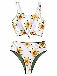 cheap -sunflower tankini swimsuit for women adjustable criss cross straps bikini set ruched high waisted bathing suit (green-sunflower, s)