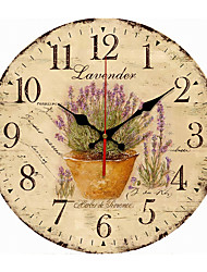 cheap -Wood Wall Clock- Beach Tide Clock 34cm Round Hanging Clock Rustic Tuscan Style Clock Silent Non Ticking Wall Decor for Home Office School