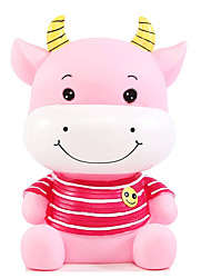 cheap -Piggy Bank / Money Bank Cute Cow 1 pcs Gift Home Decor Plastic For Kid's Adults' Boys and Girls