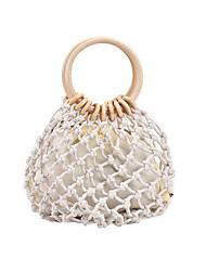 cheap -Women's Bags Top Handle Bag Straw Bag Holiday Beach 2021 Straw Bag Handbags White Khaki