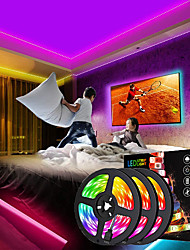 cheap -3x5M Light Sets RGB Strip Lights 450 LEDs 5050 SMD 10mm 1 12V 6A Adapter 1 44Keys Remote Controller 1x 1 To 4 Cable Connector 1 set RGB Multi Color Waterproof Decorative Holiday 12 V