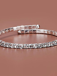 cheap -Women's Bracelet Tennis Chain Circle Simple Fashion Rhinestone Bracelet Jewelry Silver For Anniversary Party Evening Prom Date Festival