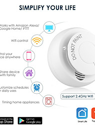 cheap -wifi smoke detector sensor smart home automation security alarm detector for smart life
