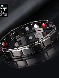 cheap -magnetic therapy bracelet fashion titanium steel men's accessories couple bracelets