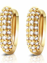 cheap -small hoop earrings hypoallergenic cartilage earrings 18k gold plated 10mm cubic zirconia earrings for women girls with gift box (gold)