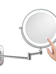 cheap -New 8-inch Folding LED Makeup Mirror Wall-mounted Makeup Mirror Double-sided Illuminated Mirror Zoom In And Charge