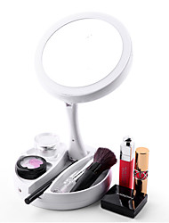 cheap -LED Makeup Mirror With Light Portable Folding USB Double-sided Makeup Mirror Desktop Luminous Portable Storage Mirror