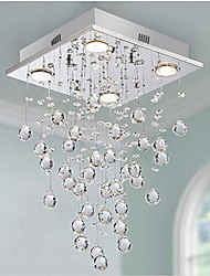 cheap -Crystal Chandelier Square Ceiling Light For Restaurant Dining Room Living Room Kitchen Luxury Pendant Light